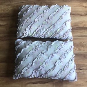 Set of two rectangular lavender accent pillows